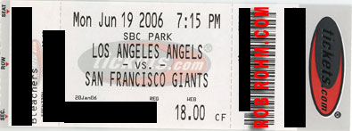 Angels - Giants ticket