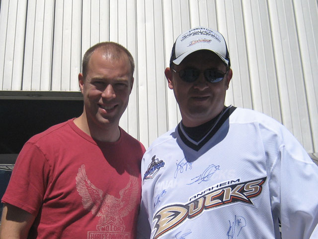 JS Giguere and Rob Rohm at Anaheim Ice