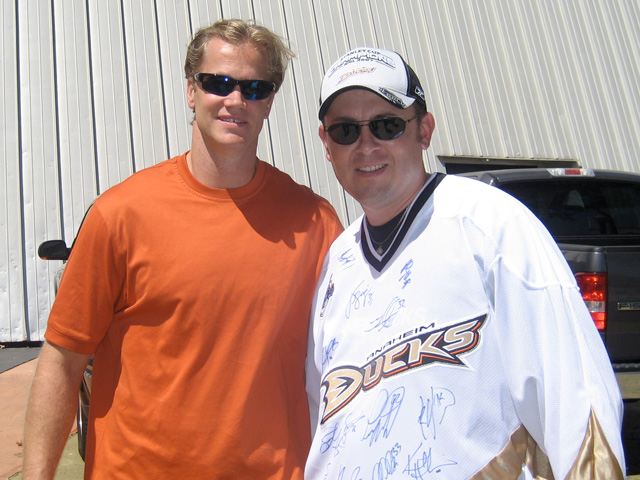 Chris Pronger and Rob Rohm at Anaheim Ice