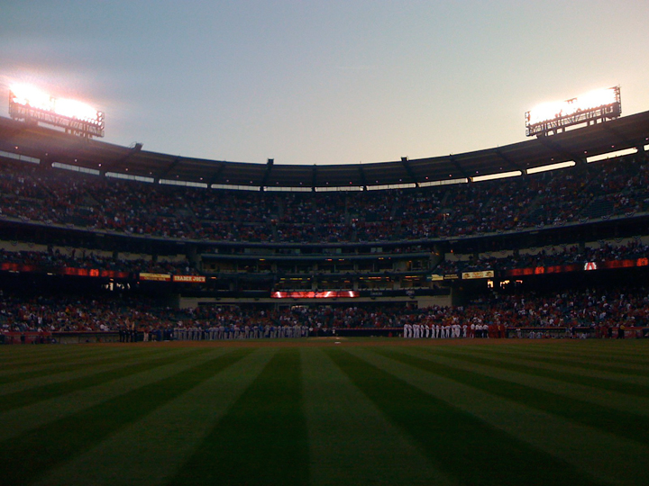 Opening Night at Angel Stadium 2008