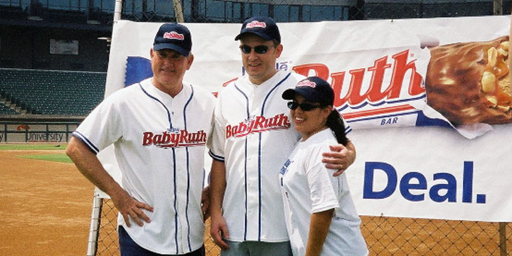 Nolan Ryan, Rob Rohm, Lucy Rohm in Round Rock, Texas