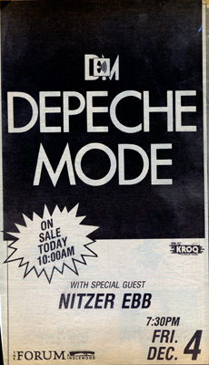 Depeche Mode Forum Concert Advert 1987